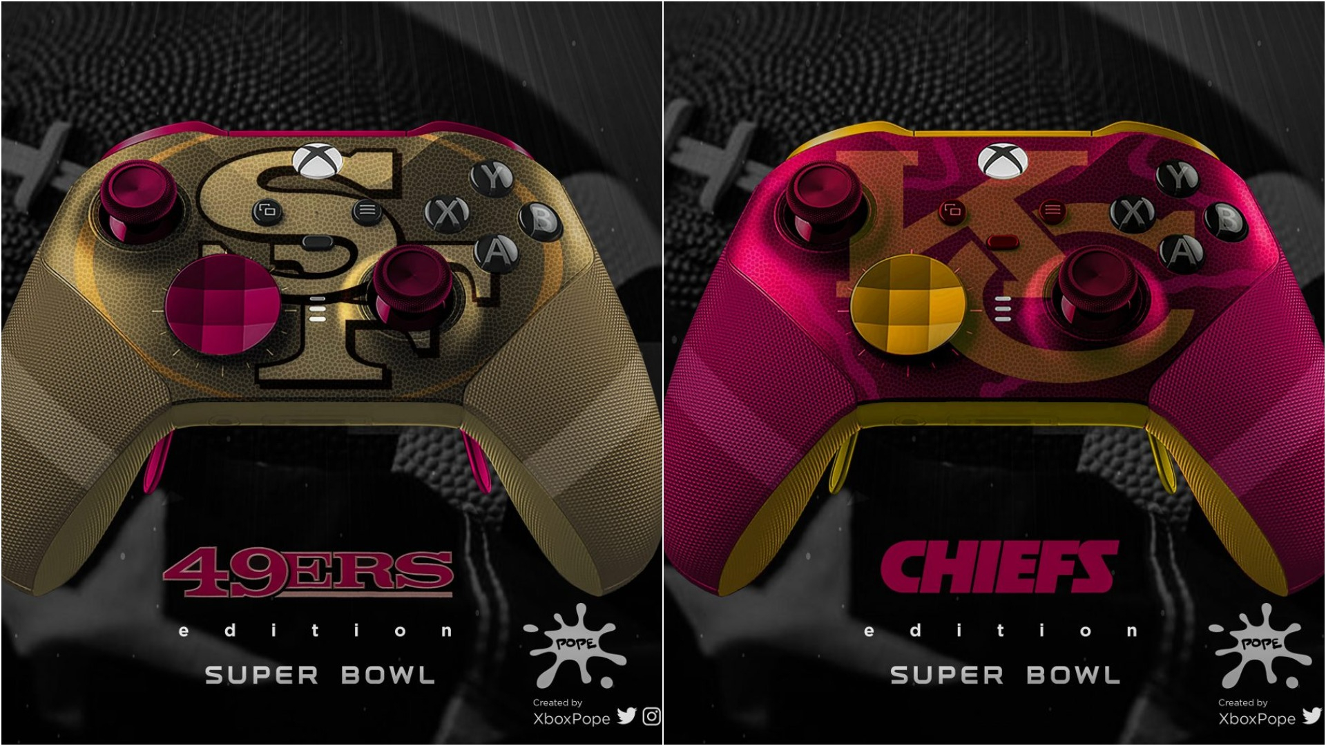 Custom Chiefs And 49ers Xbox Controller Designs Are Just In Time For Sunday S Game Gaming Thrill